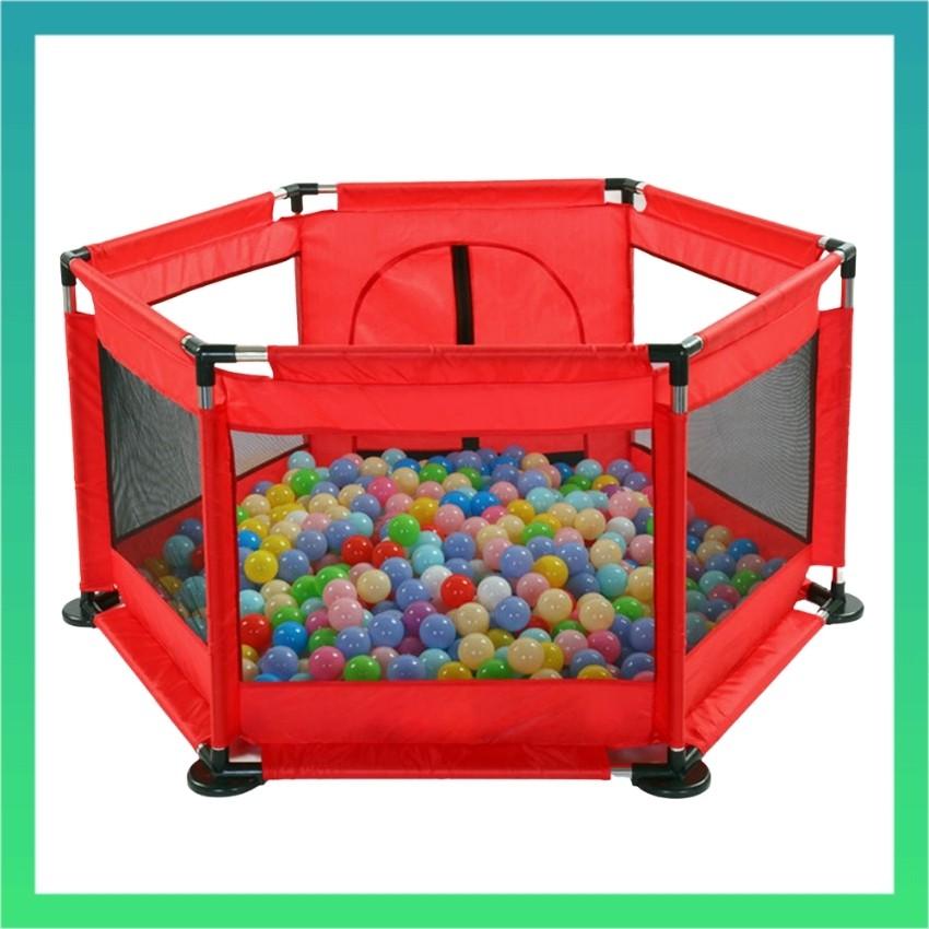 Quây bóng khung inox vải dù cho bé tặng kèm 100 quả bóng cho bé