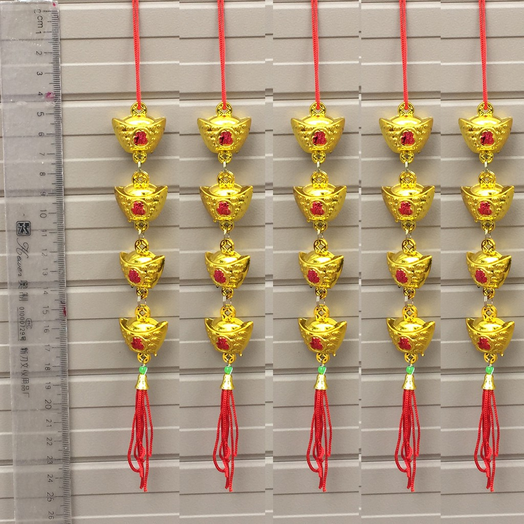 Combo 5 dây thỏi vàng chữ Phúc trang trí Tết