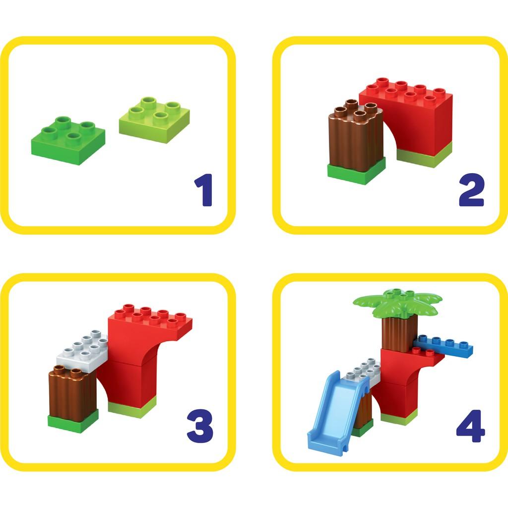 [Dự kiến giao hàng ngày 02/08] Đồ chơi lắp ráp lego thông minh cho bé mẫu giáo cầu trượt sáng tạo TINITOY nhiều mảnh