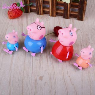 Set 4 nhân vật gia đình peppa pig