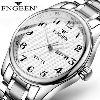 Đồng hồ nam FNGEEN FS lịch lãm mặt số dễ xem giờ