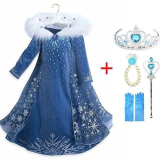 Đầm hóa trang công chúa băng giá dành cho bé gái
