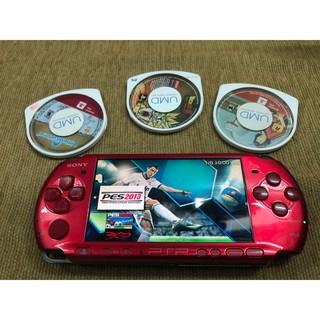 Máy PSP 3000 tặng thẻ nhớ 32GB 30 GAMES và 3 đĩa umd thumbnail