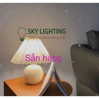 Đèn ngủ để bàn cao cấp vintage phong cách Hàn Quốc, tặng kèm bóng đèn,đèn ngủ xếp ly đàu giường nhẹ nhàng sang trọng