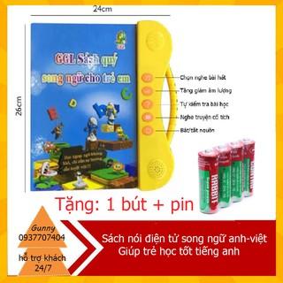 [BÁN SỈ] Sách Nói Điện Tử Song Ngữ Anh- Việt Giúp Trẻ Học Tốt Tiếng Anh, ĐỒ CHƠI CHO BÉ