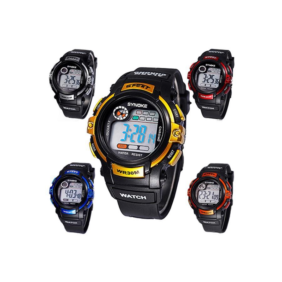 Đồng hồ SYNOKE điện tử dây đeo nhựa kiểu dáng thể thao