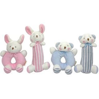SUN11❤ 1Set newborn cartoon baby boy girl rattles infant animal hand bell