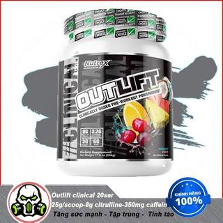 [Sale] Thực Phẩm Bổ Sung Tăng Sức Mạnh Hồi Sức Trong Thể Thao Pre Workout Nutrex Outlift (10 Lần thumbnail