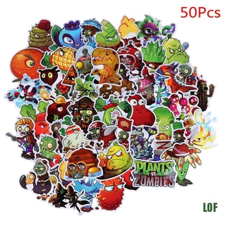 [lof] 50 Pcs/Set Plants Vs Zombies Graffiti Stickers For Bike Skateboard DIY Sticker