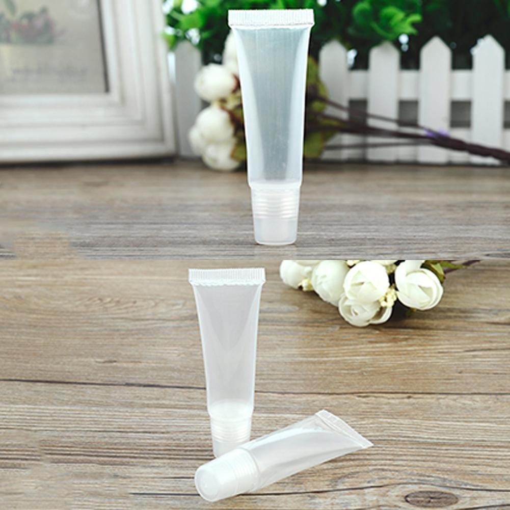Tuýp nhựa rỗng 8g trong suốt đựng son dưỡng môi/mỹ phẩm đa năng