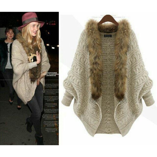 Áo khoác nữ vải len giả lông cừu - HNG