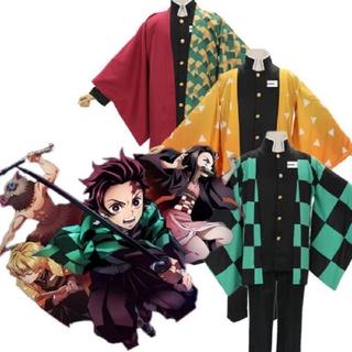 Anime Demon Slayer: Kimetsu No Yaiba Kamado Nezuko Cosplay Costume Kimono Robes Men Women Suit