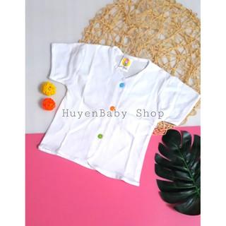 Áo sơ sinh ngắn tay màu trắng cúc giữa nhiều màu Hello đủ size cho bé từ sơ sinh đến 11 kg thumbnail