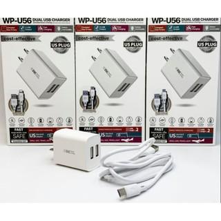 Bộ sạc nhanh CHÍNH HÃNG Dây cáp sạc iphone android WK WP-U56 2 cổng - Tiện ích nhân đôi với 2 cổng đầu ra thumbnail