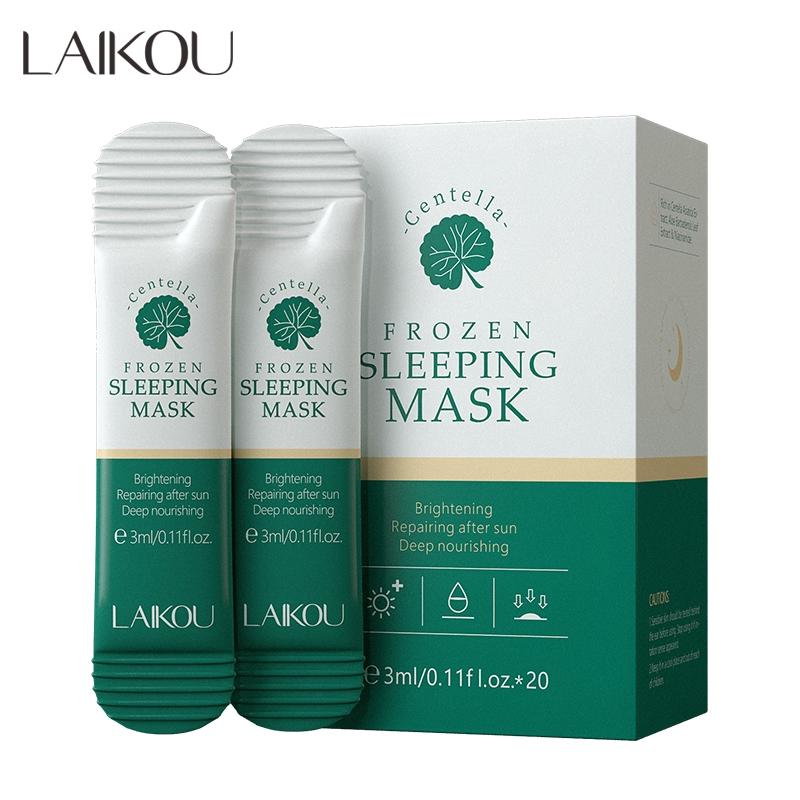 Set 20 mặt nạ ngủ cung cấp độ ẩm làm sáng da Laikou 3ml