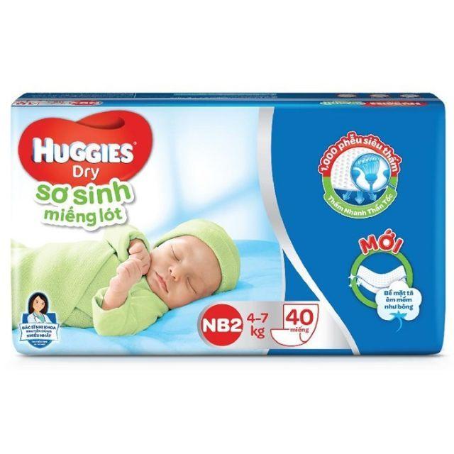 Miếng lót sơ sinh Huggies NB2 40 miếng