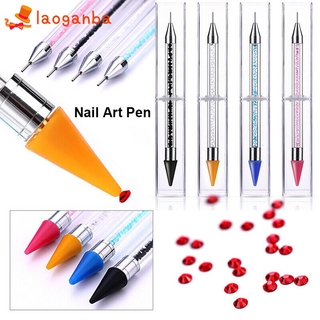 Women Ladies Nail Dotting Art Pen Fashion Beauty Supply 3D Sticker Nail Tool Point Drill Pen