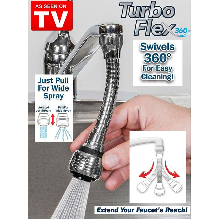 FreesHip Đầu nối vòi xịt nước, ống nối vòi nước - Đầu nối vòi rửa bát tăng áp xoay 360 độ, Chất liệu inox cao cấp