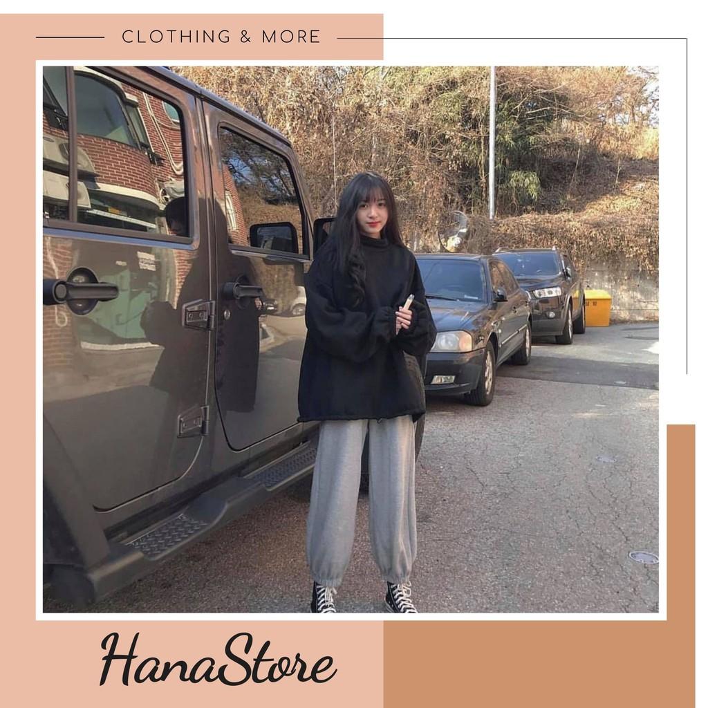 Bộ Nỉ Bông Nữ ❤️ Set áo nỉ bông và quần jogger trơn basic kiểu dáng Hàn Quốc SIÊU HOT ❤️
