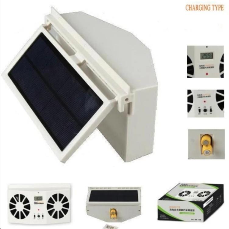 Quạt thông gió năng lượng mặt trời SOLAR CAR COOLER - 2 quạt mẫu mới