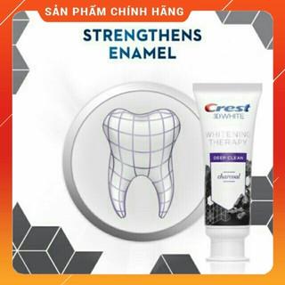Kem đánh răng than hoạt tính của Mỹ Crest 3D White Charcoal Toothpaste 116g – Therapy Charcoal Deep Clean