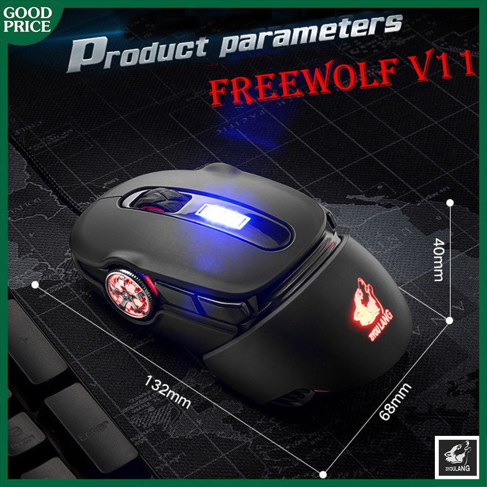 Chuột chơi gaming trên máy tính Freewolf V11