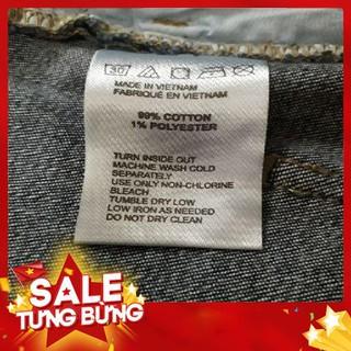 Sale quần short jean cạp cao cài nút. Hàng cty xuất – Hàng nhập khẩu