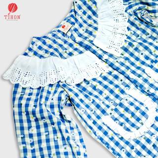 Bộ pijama bé gái TIHON 3 màu xinh xắn Set0810188