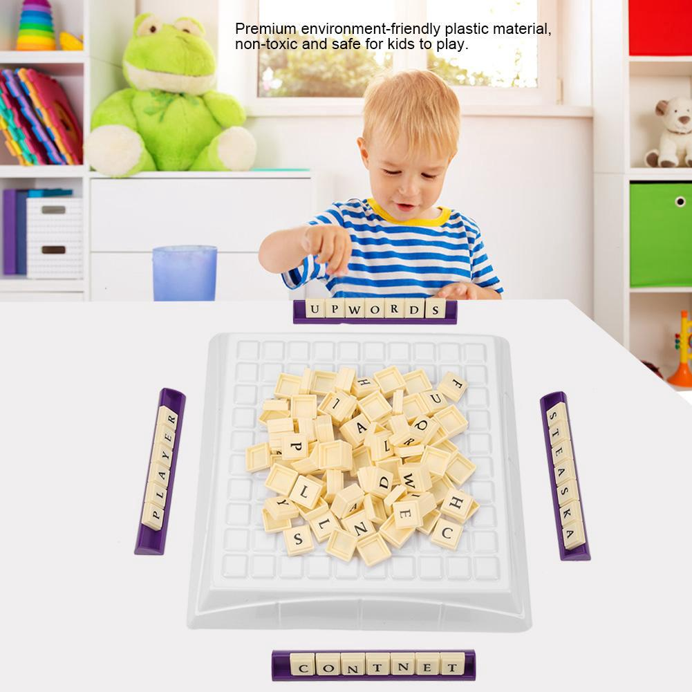 3DEnglish Letter Board Crossword Game Puzzle Educational Toy
