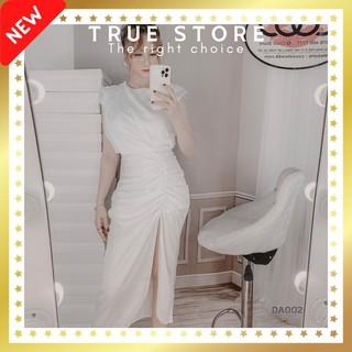 [SIÊU SALE] Đầm lụa dự tiệc thiết kế cao cấp phong cách sang trọng, True Store đảm bảo, DA002