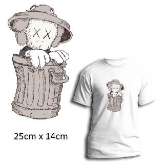 Miếng ủi truyền nhiệt offset dán quần áo hình KAWS 18