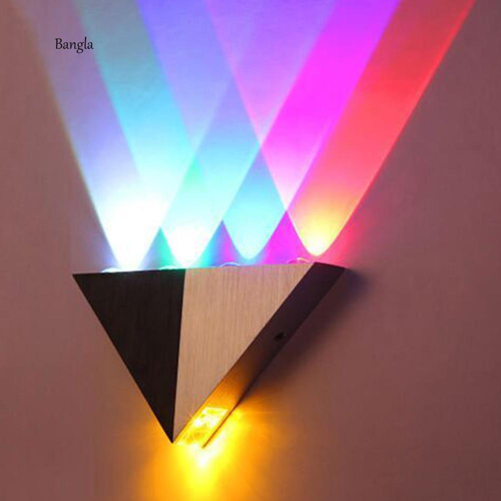 Đèn Led Dạng Hình Tam Giác Gắn Tường Trang Trí Nội Thất