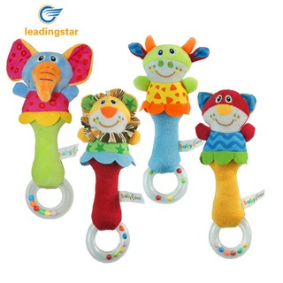 JC Baby Kid Soft Cartoon Handbells Rattle Musical Developmental Toy 22cm