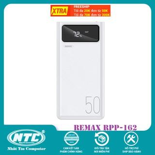 Pin sạc dự phòng Remax RPP-162 50000mAh, lõi Li-polymer, 3 cổng input, 4 cổng output (Trắng) – Hàng chính hãng
