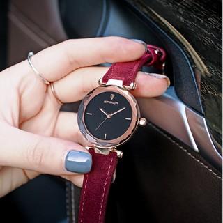 Đồng hồ nữ Sanda 218 hàng chính hãng dây da lộn thumbnail