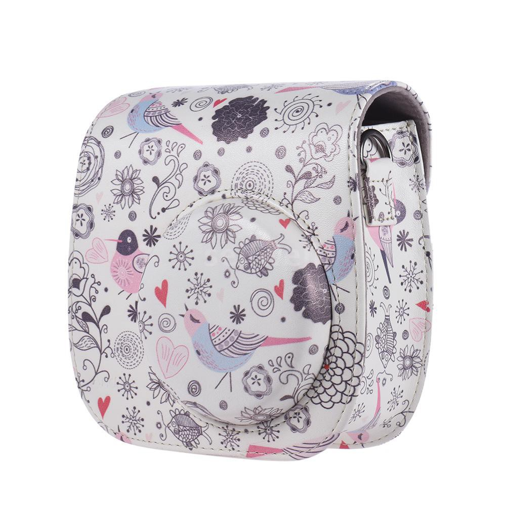 Andoer Compact Cute Lovely PU Leather Protective Camera Bag Carrying Case Pouch