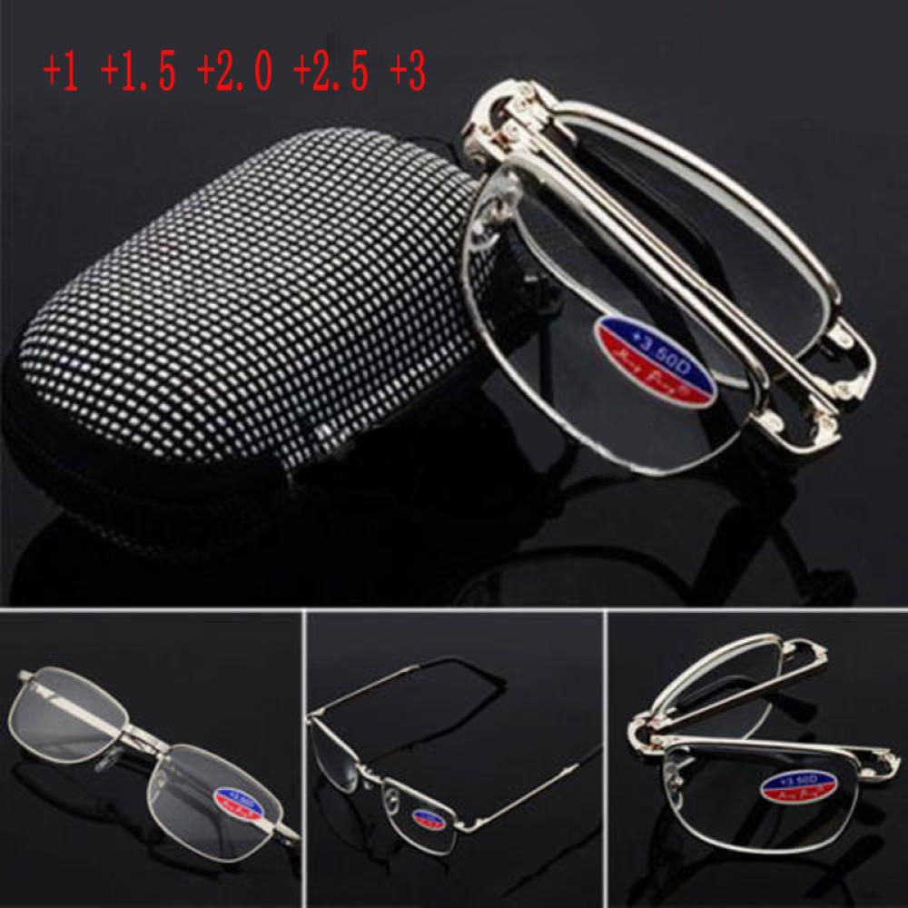 🎉ONLY🎉 +1/ +1.5/ +2 /+2.5/ +3 Unisex Hot Sliver Frame Metal Reading Glass