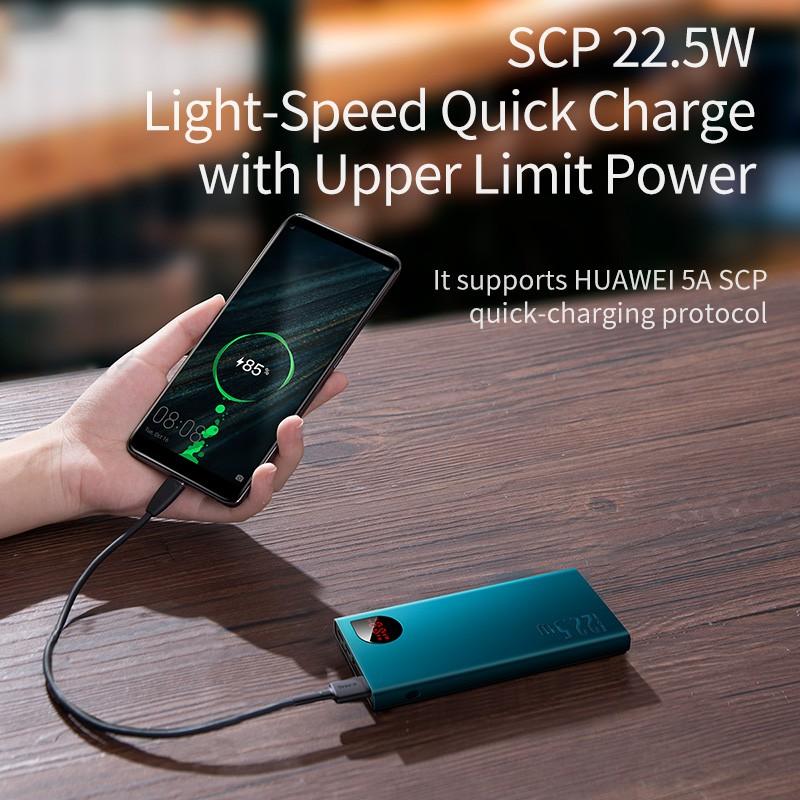 Pin Sạc Dự Phòng Baseus 10000mah Cổng Usb 4.0 Tốc Độ Cao Cho Iphone Samsung