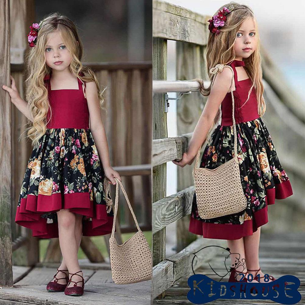 Đầm công chúa đính hoa cho bé gái