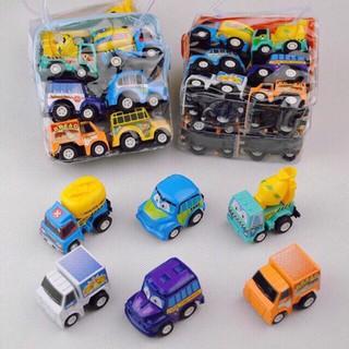 Set 6 Ô Tô Mô Hình Ngộ Nghĩnh đồ chơi đẹp