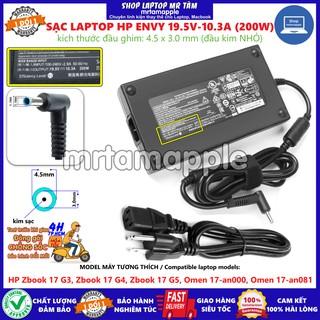 (ADAPTER) SẠC LAPTOP HP 19.5V-10.3A (200W) Slim (Kim nhỏ) kích thước đầu ghim 4.5 x 3.0 mm thumbnail