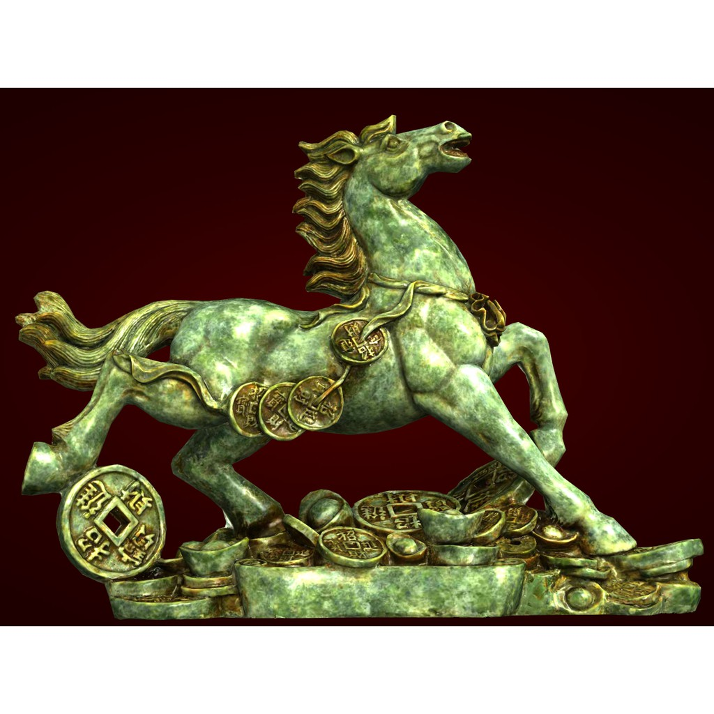 Quà tặng tân gia - Xưởng E3D -Tượng ngựa phong thủy trang trí