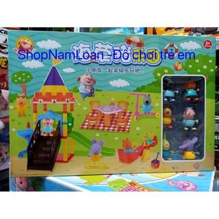L218 – Đồ chơi mô hình công viên giải trí, sân chơi của các bạn Heo – đồ chơi nhà búp bê