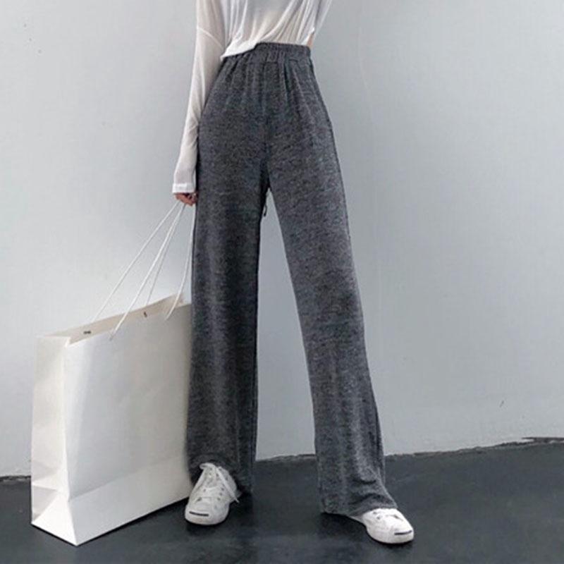quần len ống rộng kiểu hàn quốc