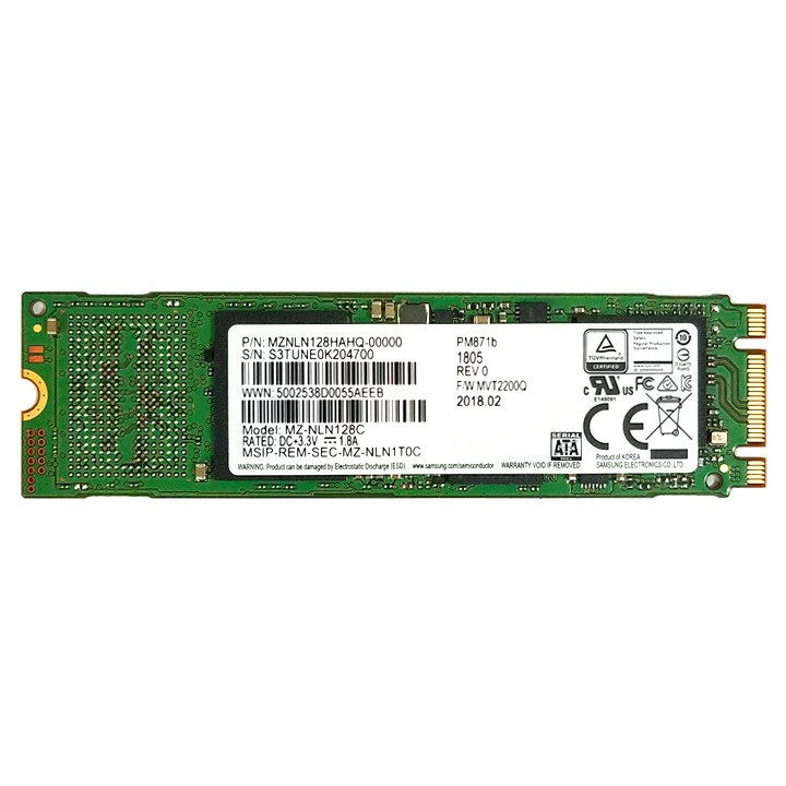 Ổ cứng SSD M.2 2280 SATA Samsung PM871b 128GB - bảo hành 3 năm
