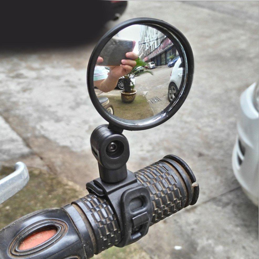 Gương chiếu hậu tròn nhỏ cho xe đạp leo núi với tay cầm silicon