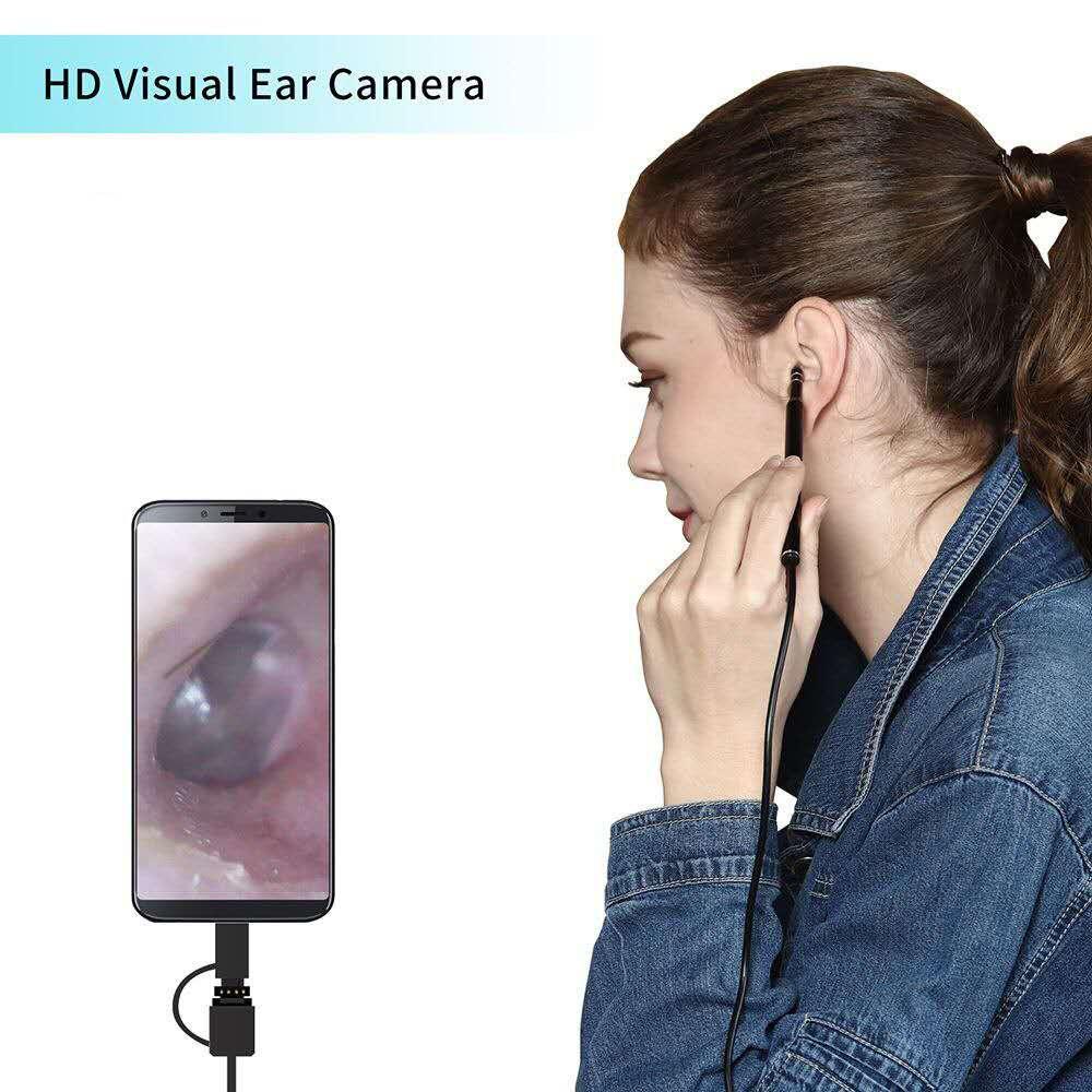 3-in-1 Ear Cleaning Endoscope HD Visual Ear Spoon Multifunctional Earpick With Mini Camera