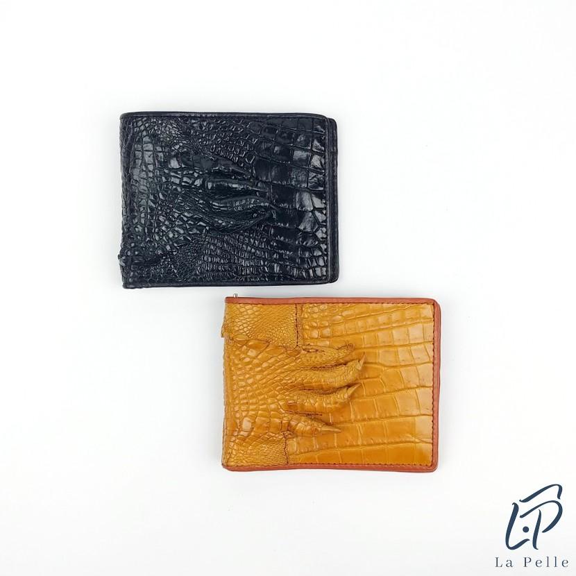Ví bóp nam da cá sấu thật - Có móng cá sấu gắn liền trên ví LP688