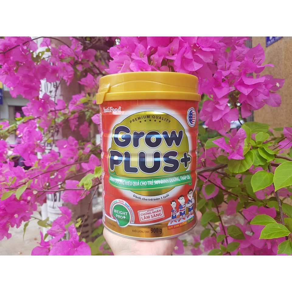 Sữa bột Nuti Grow Plus đỏ lon 900g