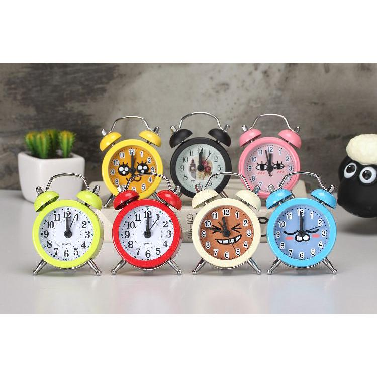 Đồng hồ báo thức để bàn mini 8 màu cute, đồng hồ trang trí dễ thương mới 2021 thumbnail